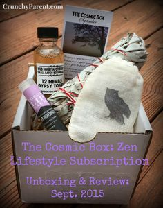 Crunchy Parent-Cosmic Box Indie Subscription Unboxing and Review-September 2015 #greenbeauty, zen, mindfulness