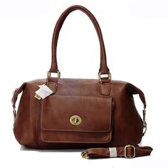 Coach Madeline East West Medium Brown Satchel ARB