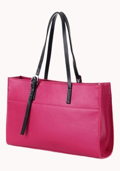 36a17e4a5770 Anjelica Leather Tote Pink Bag  Calfskin leather Sliver tone hardware Open top  zip closure Dual