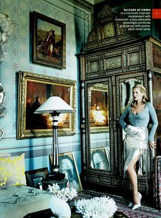 """""""The Silk Road"""": Kate Moss & Chiwetel Ejiofor by Mario Testino for US Vogue, December 2013"""