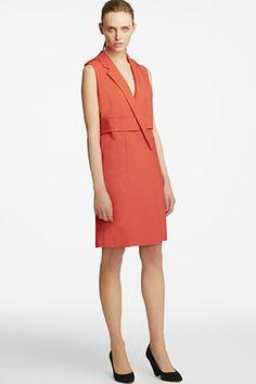 Halston Heritage Sleeveless Notch Neckline Sheath Dress, $395, available at Bloomingdale's.