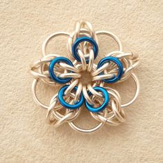 Celtic flower tutorial: Chainmaille how to.
