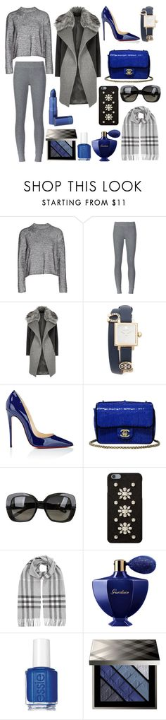 """""""Stylish outfit"""" by suha123 ❤ liked on Polyvore featuring T By Alexander Wang, ATM by Anthony Thomas Melillo, River Island, Tory Burch, Christian Louboutin, Chanel, Bottega Veneta, MICHAEL Michael Kors, Burberry and Guerlain"""