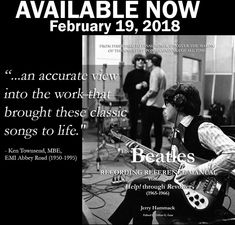 #THEBEATLES RECORDING REFERENCE MANUALS' VOLUME 2: HELP! THROUGH REVOLVER(1965-1966) Paperback–FEB 2018 by Jerry Hammack(Author), Gillian G.Gaar(Editor) IS NOW AVAILABLE: https://www.amazon.com/gp/product/1983704555?ie=UTF8&tag=bm05b-20&camp=1789&linkCode=xm2&creativeASIN=1983704555