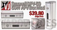 Vapor Joes - Daily Vaping Deals: LOW PRICE: THE 50 WATT SMOWELL DPV-50 BOX MOD - $3...