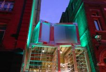 Glulam Cubes for a groundbreaking Urban Playground in Soho, London. Photo credit: Jane's Pond