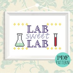 Nerdy Cross Stitch - DIY Embroidery Quote - Geeky Science Gift