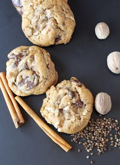 Chocolate chip cookies with the flavor of chai added. From Nancy Silverton.