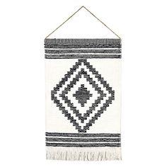 "18""x26"" Diamond Hand Woven Art - Black & White Nomad pattern -  #Target Wall Decor"