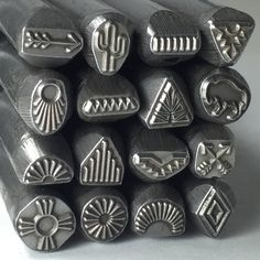 Large Native American steel stamps set of 16  3/8 tool by Romazone