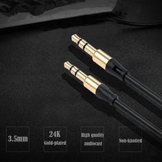 3.5mm Maschio a Maschio Cavo Audio Jack Da 3.5mm Aux Cavo Piatto per auto iphone samsung mp3/4 della cuffia del telefono mobile speaker aux cavo