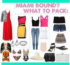 Miami Bound? This is my take on what you need to pack for your Miami vacation.
