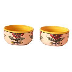 Handmade Authentic Khurja Pottery Ceramic Serving Bowls or Mixing Bowls Set 2 #Handmade #KhurjaPottery