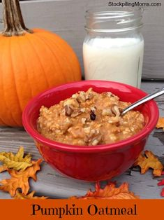 Pumpkin Oatmeal recipe is a GREAT way to start the day!