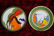 Wedgwood China Plates, World Of Clarice Cliff 'Poplar' & 'Orange House' Orange House, Clarice Cliff, Modern Art Deco, China Plates, Wedgwood, Baby Items, Ceramics, Ebay, Shopping