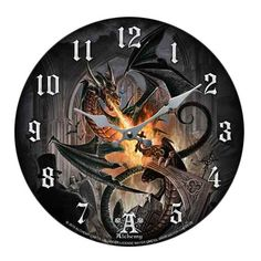 Order Of The Dragon Wall Clock  Price $23.99  http://efairies.com/order-of-the-dragon-wall-clock/