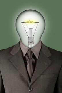 Mia-this image presents a man who get a buib head, i think it means the man who always get clever ideas, it metaphors ideas come out or creat something new, the buib is lighting, like the process the idea come out.