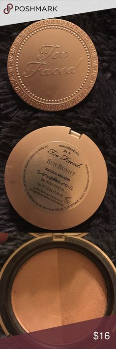 Too faced sun bunny ** please see photos for condition! Some products are brand new but some have minimal professional usage. Price is reflective of usage.** ** ALL my products are authentic!** **any questions please ask before you purchase** ** happy shopping and I hope you enjoy!** Makeup Bronzer
