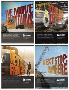 Industrial strength trade advertising for a national transportation hub -  Fullen Dock & Warehouse