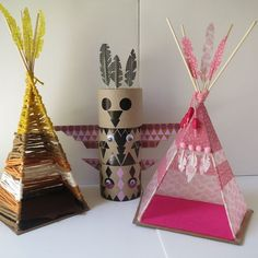 DIY INDIAN SPIRIT: LE TOTEM & LE TIPI