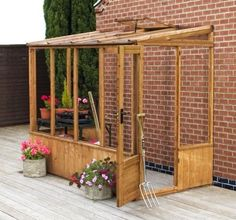 6 x 4 wooden lean to green house with door on length - Google Search
