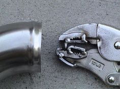 Pipe Beading Tool by Nige -- Homemade pipe beading tool constructed from a pair of locking pliers and metal strap. http://www.homemadetools.net/homemade-pipe-beading-tool-5