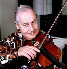 Stéphane Grappelli. One of the great jazz violinists.