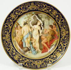 "A. Kacovsky, Royal Vienna Porcelain (Austria) — Scenic Plate. D: 9 3/4"" (1280x1267)"