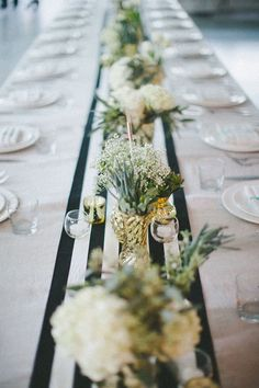 Black, gold, and white tablescape #weddingdecor #goldwedding #blackwedding #tablescape #weddingreception