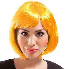 Bob-Perückemit Pony, Farbe:gelb, Haarlänge: ca. 26 cm. Material: 100 % Polyester.Tipp: Perücke individuell für den eigenen Look mit Kamm und Haarspray frisieren! Für die optimale Länge je nach Wunsch mit einer Schere kürzen!Knallige Farben sind im Fasching und Karneval ein absolutes Must-Have! Auch in den Haaren! Aber der Fasching hat auch leider wieder ein Ende. Deswegen ist eine freche Bobperücke passend zu Ihrem einzigartigen Faschingsko...