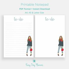 To Do Notepad To Do List Printable To Do List Planner