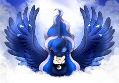 MLP FIM - Princess Luna Magic Wings V 2 by Joakaha.deviantart.com on @DeviantArt