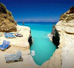 Corfù / Kerkira - Greece.    I spent the summer of 1970 diving off cliffs like this on Corfu!!! Was a very beautiful place and wonderful people!
