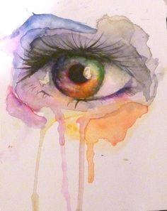 watercolour eye by Eden Humphreys Pen And Watercolor, Watercolour Paintings, Watercolours, Contrast Art, Beautiful Artwork, Beautiful Eyes, Eye Pictures, Art Diary, Home Art