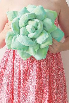 Succulent pillow from molliemakes August 2015 issue