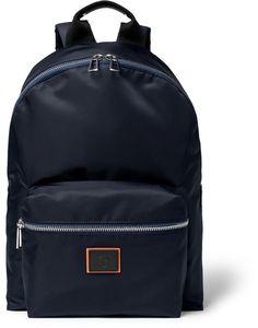 e90375f80f1c Paul Smith Leather-Trimmed Nylon Backpack Mens Designer Backpacks