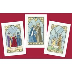 From Heritage Crafts, this stunning set of 3 stained glass Christmas cards feature designs by Susan Ryder, Wise Men, Nativity and Shepherds. Featuring traditional scenes from the Nativity it helps us