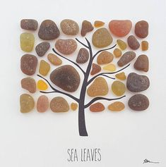 It is my pleasure to present Sea Leaves in Amber, a truly unique piece of original art. The piece is produced using genuine vintage sea glass which has been handpicked from Seaham beach in the North East of England, the glass pieces may be as much as 150 years old. Amber Sea Glass is