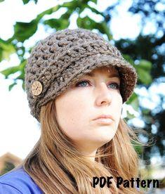 Work: Newsboy Hat Pattern, Crochet Hat Pattern, Brimmed Hat Pattern,... - Hats