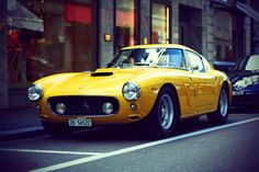 Ferrari 250 GT Berlinetta SWB - yellow cars are never ok... but this one is fantastic no matter what color