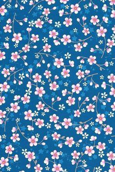 Eijffinger PIP studio behang Cherry Blossom donker blauw