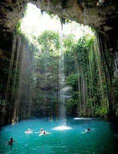 Natural Swimming Pool♥  Chichen Itza, Mexico