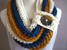 Stylish and simple crochet scarf.