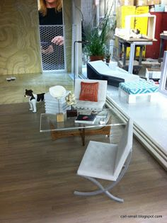 Call of the Small: Sneak Preview: Custom Designer Dollhouses Contemporary Beach House Two, with interiordesign by Chris Barrett and the team of Ron Woodson and Jaime Rummerfield. Mattel Charity for UCLA Children's Hospital  Barcelona Chair by Cufflinks and Cowboy Boots on Etsy