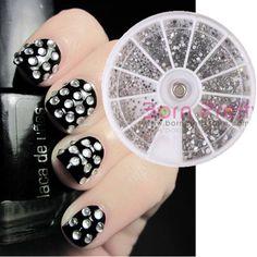 Nail Art Round Rhinestone Studs Sticker Glitter Manicure Tips Decoration Nail  Art Rhinestones 6bc20368b71b