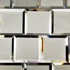 Dark Gray Beveled 4x4 Mirror Tile   TileBar.com