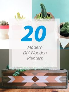 20 Simple, Geometric And Modern Wooden Planters To DIY Get a unique planter for your home by making one using wood.     Adding plants to our home would no doubt bring a more refreshing feel into it. But aside from that, it could also be a good decoration for the house both inside and out. But...