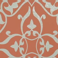 Walls Republic R15 Elegant Metallic Floral Damask Wallpaper