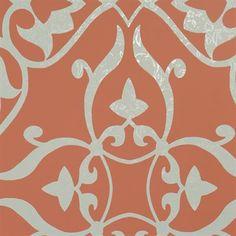 Walls Republic R15 Elegant Metallic Floral Damask Wallpaper