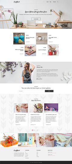 CraftBird - Handmade Artist Personal #blog  #wordpress  #theme